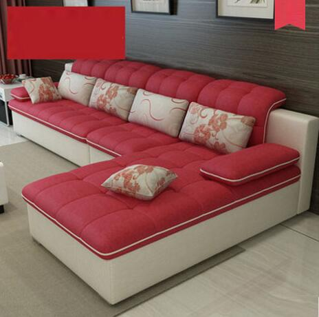 圣瓦罗格奥之星 布艺沙发现代简约小户型客厅多人沙发 组合家具L型