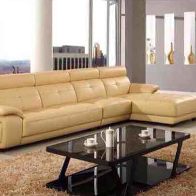 东天瑞星进口头层牛皮中厚皮转角真皮沙发组合 现代皮艺客厅家具 1306 L形全长3.6米
